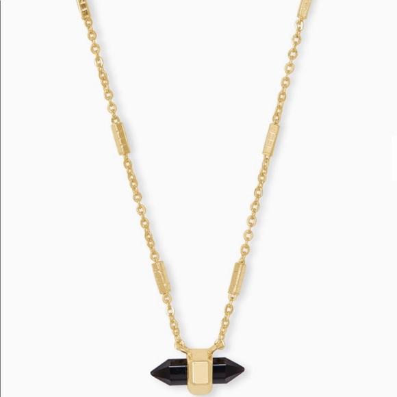 Kendra Scott Jamie Pendant Necklace Black Obsidian